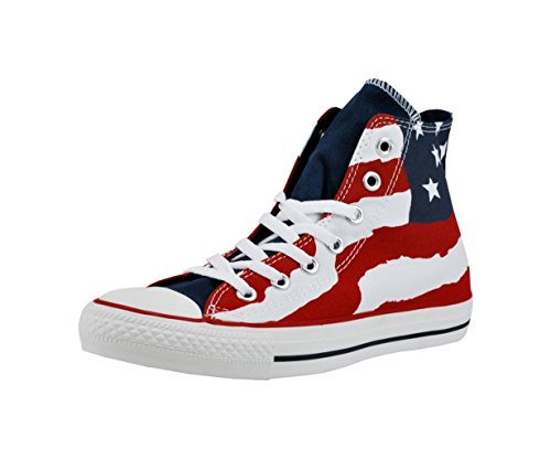 CONVERSE Chuck Taylor All Star Hi Top Fashion Sneaker Shoe - Flag - Mens - 12 All Star Multi Eyelet