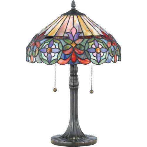 Light Tiffany Table Lamp-Vintage Bronze, Small ()