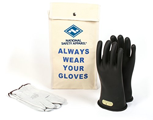 National Safety Apparel KITGC0011 Class 00 Rubber Insulating Voltage Glove Kit, Size 11 by National Safety Apparel Inc
