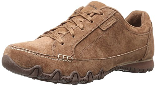 Skechers Women's Bikers Curbed Fashion Sneaker,7.5 M US,Desert by Skechers