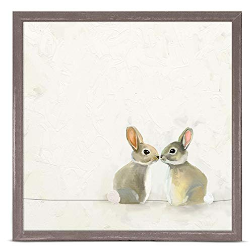 (GreenBox Art + Culture Baby Bunnies by Cathy Walters 6 x 6 Mini Framed Canvas)