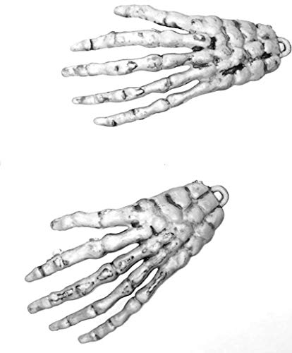 Bag Of 12 Mini Skeleton Hands Halloween Party Decorations