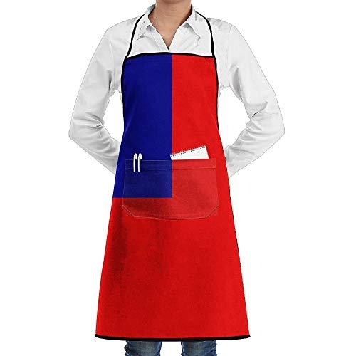 (SOADV Apron Taiwan Solemn Flag Faction Unisex Kitchen Cooking Garden Apron,Convenient Adjustable Sewing Pocket Waterproof Chef)