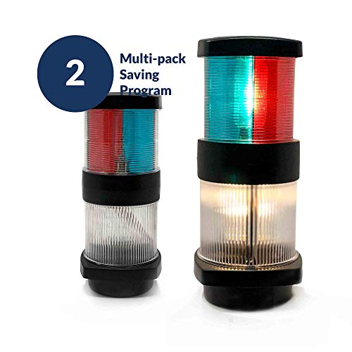 Five Oceans Masthead Tri-Color Anchor All Round Navigation Boat Light, 12V (Pair) FO-2071-M2