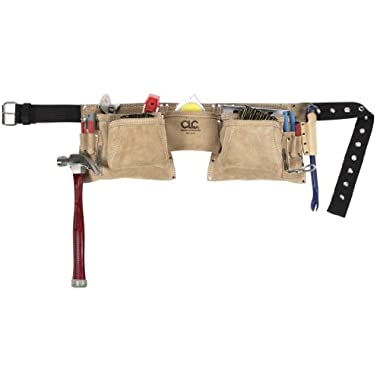 Custom Leathercraft 527X Suede Construction Work Apron, Heavy Duty, 12 Pocket