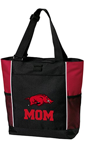 University of Arkansas Mom Tote Bags Red Arkansas Razorbacks Mom Totes Beach Travel ()