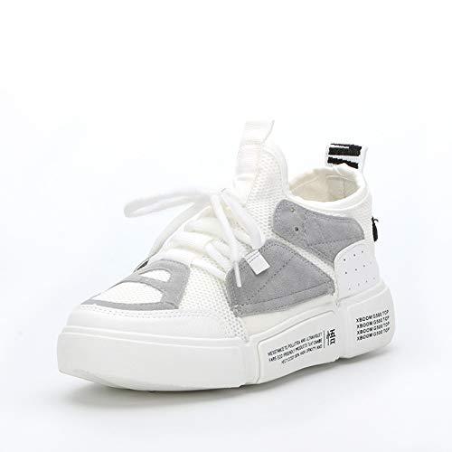 HCBYJ Chaussures élastiques Chaussures Volantes tissées Volantes à Illumination incrustée de Chaussures pour Dames Sauvages