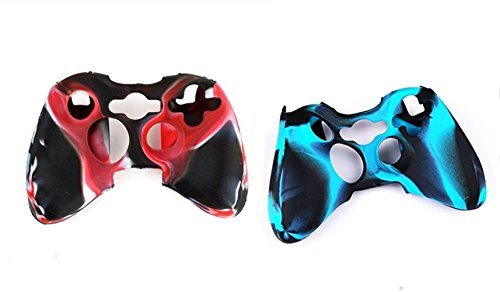 Hipipooo 2 Pack of Camouflage Soft Silicone Protective Skin Case Cover for Xbox 360 Controller Rubber Protector Shell Case for Xbox 360 Gamepad