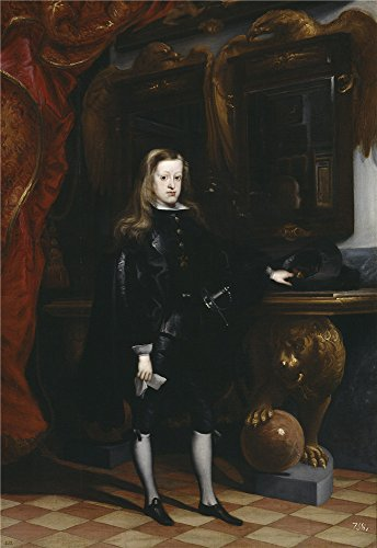 'Carreno De Miranda Juan Carlos II 1675 ' Oil Painting, 10 X 15 Inch / 25 X 37 Cm ,printed On Perfect Effect Canvas ,this Best Price Art Decorative Prints On Canvas Is Perfectly Suitalbe For Game Room Artwork And Home Artwork And Gifts