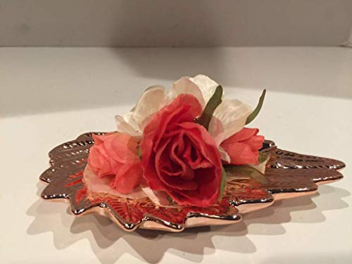 ANGEL WING SILK FLORAL ARRANGEMENT 1 -SMALL- ROSE GOLD -ROSES, HYDRANGEA PETALS, LEAVES- UNIQUE- ONE OF A KIND- VALENTINES DAY- JUST BECAUSE- I LOVE YOU- ROMANCE- SMALL SPACES- BIRTHDAY- ANNIVERSARY