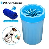 FOCUSPET Portable Dog Paw Cleaner Cup, 6 Inch High Medium Portable Pet Foot Washer Cup Soft Paw Cleaning Brush Comfortable Silicone Cup Ideal for Any Dog
