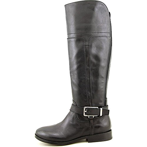 Marc Fisher Women's Aysha Wide Calf Leather Riding Boot Black Multi Leather F6OLhs1hG7