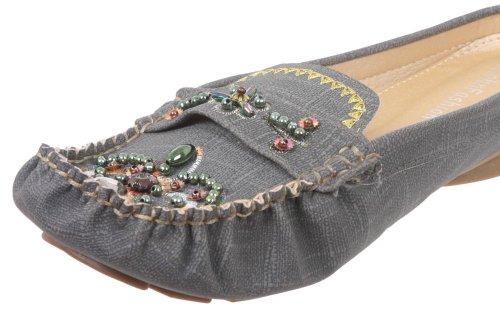 JohnFashion - Sandalias de vestir de Piel para mujer gris