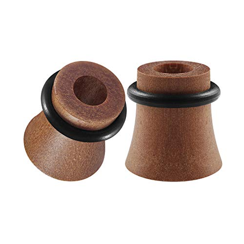 BIG GAUGES Pair Sawo Woods 00g Gauge 10mm Single Flared O-Ring Piercing Jewelry Stretcher Ear Ring Lobe Flesh Tunnel Plug BG1629