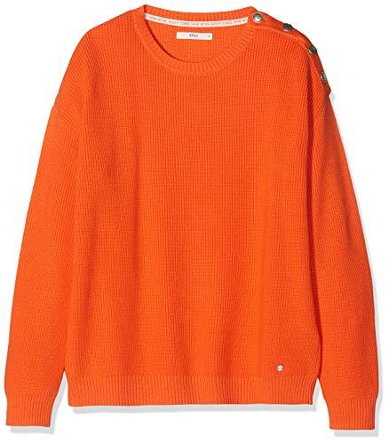 orange Brax 48 Pull Lisa Orange Schmuckknöpfen Baumwollpullover Femme Mit 10HWa1wq