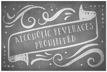 CGSignLab Alcoholic Beverages Prohibited 5-Pack Chalk Banner Window Cling 30x20