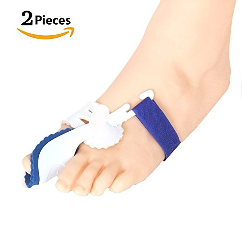 Bunion Corrector & Bunion Relief Protector Kit - Treat Pain in Hallux Valgus, Tailors Bunion, Big Toe Joint, Hammer Toe, Toe Separators Spacers Straighteners Splint Aid Surgery Treatment