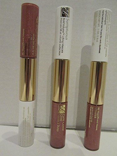 Estee Lauder Sumptuous Mascara (01black) & Gloss Duo(06 Magnificent Mauve) X3