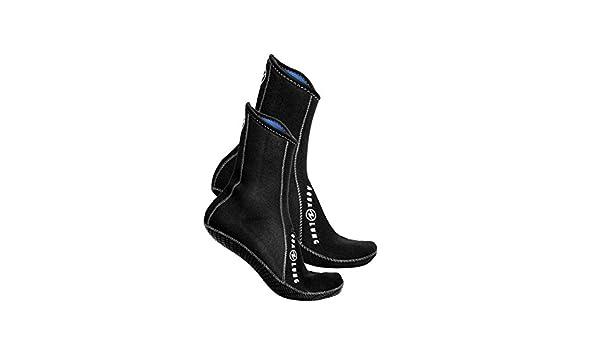 Color Negro Elastic Ergo Sock High Top 3 mm AQUALUNG Talla EU 48-49