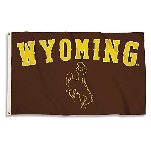 NCAA Wyoming Cowboys Flag with Grommets, 3' x 5', Brown