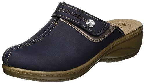 Blu blu Inblu Sulla Pantofole 004 Lory Donna Aperte Caviglia a77YB4x