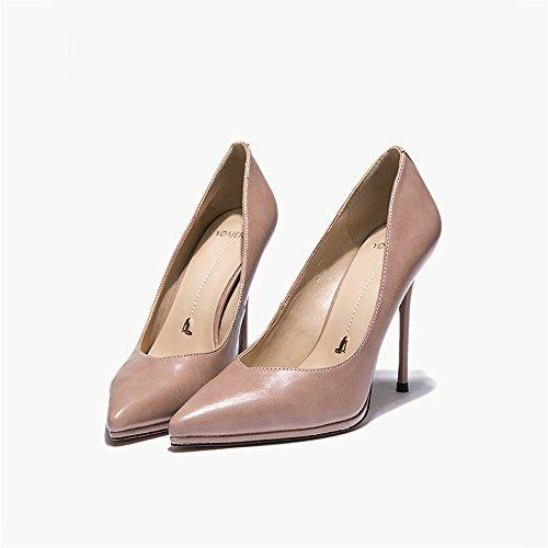 Party Tamaño Tacón Sandalias Mujer color Pink Zapatos Eu37 uk4 Moda Feifei 5 Boca Beige Alto 10cm 5 Cocktail De Baja cn37 Thin Cómodo Heels 7Y7xTq