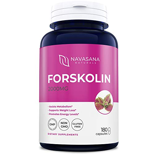 Premium Forskolin Capsules for Weight Loss, Energy Boost, and More - Belly Buster Fat Burner - Super Strength, Non-GMO, and Gluten-Free - 2000 mg/Cap, 180 Capsules