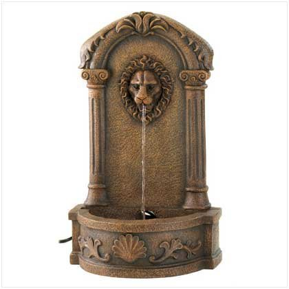 Cascading Fountains Faux Stone Outdoor Lions Head Garden Courtyard Fountain by Furniture Creations by Cascading Fountains