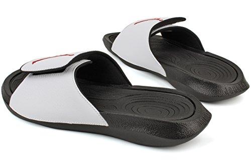 Jordan Herren Hydro 6 Slide Sandalen Weiße Turnhalle Rot Schwarz