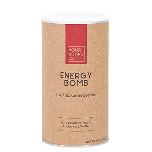 (Energy Bomb Superfood Mix by Your Super | Plant-Based Energizing Powder | Coffee & Energy Drink Replacement | Essential Vitamins & Minerals | Non-GMO, Organic Ingredients)
