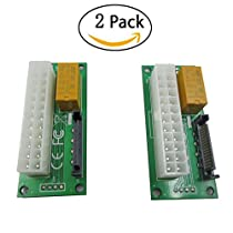ATX 24Pin to SATA Dual PSU Power Supply Sync Starter Extender Cable Card For BTC Miner Machine Add 2PSU 2-Pack (24pin - SATA)