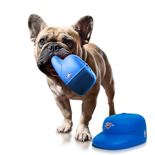 NAP CAP NBA Oklahoma City Thunder Team PlayCap Dog Chew & Squeak Toy, Blue (One Size)