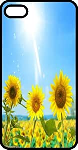 Sunflowers Soaking Up the Sun On A Clear Day Black Plastic Case for Apple iPhone 4 or iPhone 4s