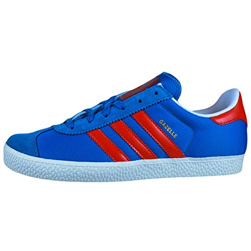 Adidas Gazelle 2J Blue White Youths Trainers Blue White