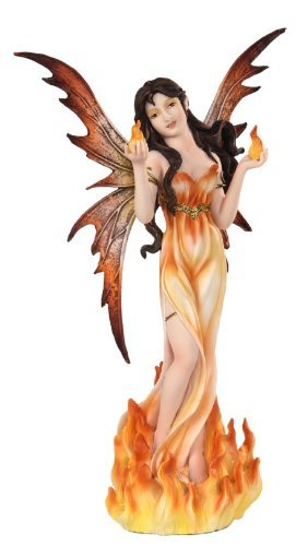 PTC 12 Inch Fire Goddess Elemental Fairy Mystical Statue Figurine ()
