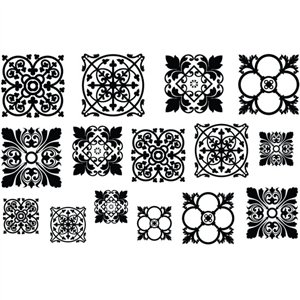 Cool Tools - Jewel Stamps for Soft Clay - Filigree Squares 1 ()