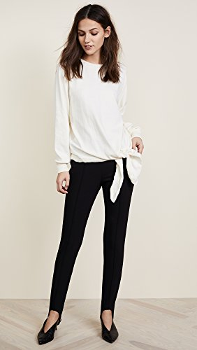 Vince Women's Tie Waist Crewneck, Cream, Small by Vince (Image #5)