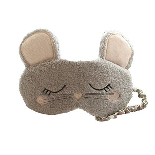 ACTLATI Cartoon Mouse Plush Sleep Eye Mask Cute Animal Night Blindfold for Women Girls