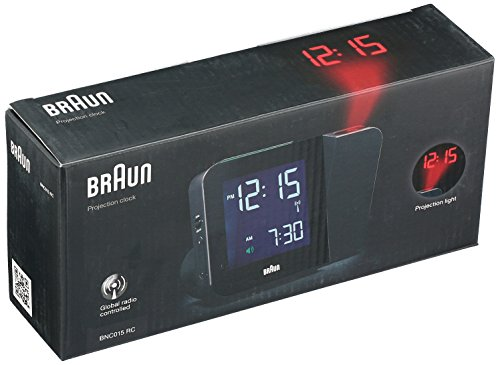Braun BNC015BK-RC Projection Quartz Clock