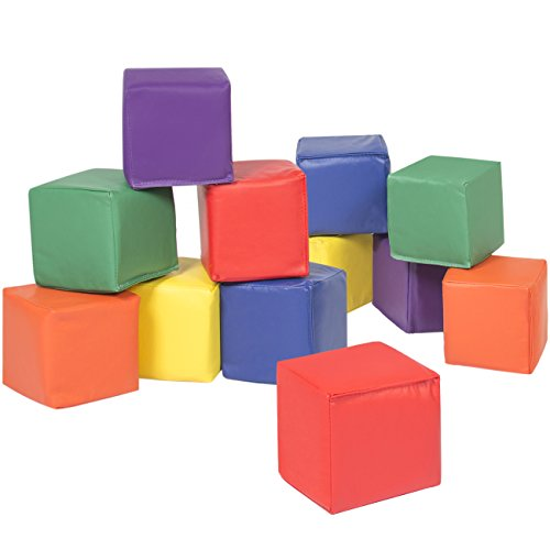 Best Choice Products BCP 12pc Soft Big Foam Blocks Play Set Sensory Gross Motor Developmental Skills