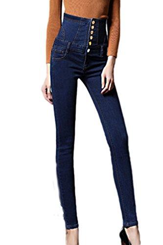Les De pais L'hiver Taille lastiques Skinny Lacets Jeans Jeans De blue Femmes Plus FBrFq