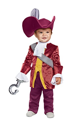 Captain Hook Halloween Costumes Child (Disguise Baby Boys Captain Hook Classic Infant Costume, red, (6-12)