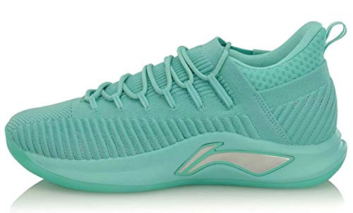 LI-NING Speed V Playoff Professional Basketball Shoes Men Cushion Mono Yarn Lining Cloud Sport Shoes Sneakers Green ABAP011 US 11