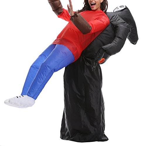 Jane's CUTLE Inflatable Blow Up Rider Costumes Funny Animal Halloween Party Fancy Dress for Adults, Ghost ()