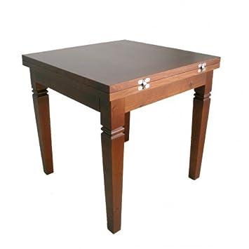 CAL FUSTER - Mesa comedor pequeña extensible de madera maciza ...
