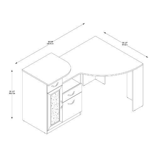 042976666156 - Bush Furniture Vantage Corner Desk, Harvest Cherry carousel main 4