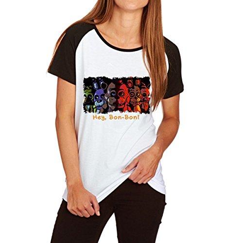 Femmes Shirts Manches Bloc T Shirts Red T Jeu de Couleur Raglan Cartoon Courtes xqg1xEwtI