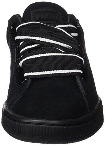 Sneakers Noir Femme Puma II Heart Basses Suede Satin qnwzZABT