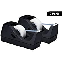 "1InTheOffice Desktop Tape Dispenser, Black""2 Pack"" (Tape Dispenser)"