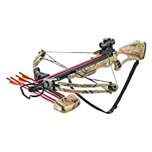 175LB DRAW WEIGHT 285 FPS WITH SCOPE AND CAMOUFLAGE PAINT PATTERN